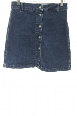 Selected Femme Denim Skirt dark blue-silver-colored flecked jeans look