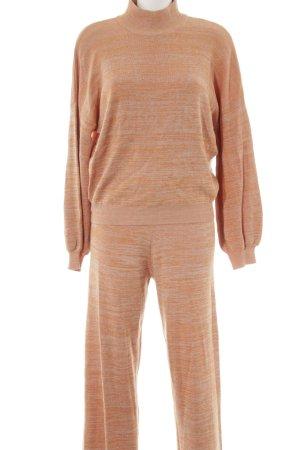 Selected Femme Jersey Twin Set wollweiß-hellorange meliert sportlicher Stil