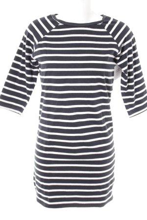Selected Femme Jerseykleid weiß-dunkelblau Streifenmuster Casual-Look