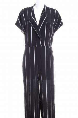 Selected Femme Jumpsuit schwarz-weiß Allover-Druck Business-Look