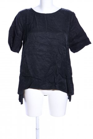 Selected Femme Kurzarm-Bluse schwarz Casual-Look