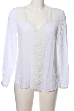 Selected Femme Langarm-Bluse weiß-wollweiß Elegant