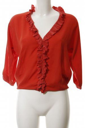 Selected Femme Kurzarm-Bluse hellrot Business-Look