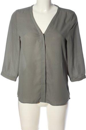 Selected Femme Langarm-Bluse hellgrau Business-Look