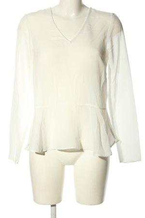 Selected Femme Langarm-Bluse weiß Casual-Look