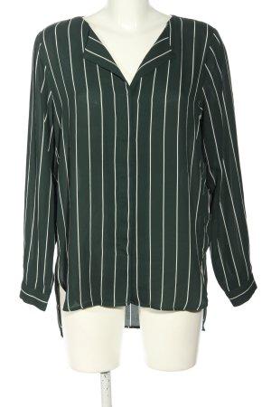 Selected Femme Langarm-Bluse schwarz-weiß Streifenmuster Casual-Look