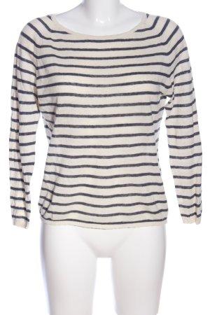 Selected Femme Langarm-Bluse weiß-schwarz Streifenmuster Casual-Look
