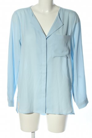 Selected Femme Langarm-Bluse blau Business-Look