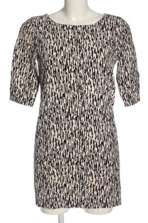Selected Femme Langarmkleid creme-schwarz abstraktes Muster Casual-Look