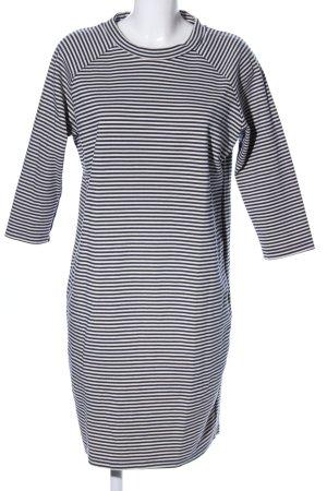 Selected Femme Langarmkleid weiß-schwarz Streifenmuster Casual-Look