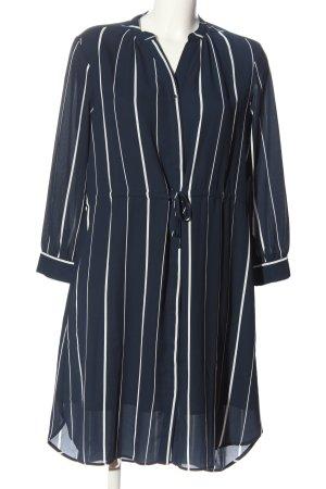 Selected Femme Langarmkleid blau-weiß Streifenmuster Casual-Look
