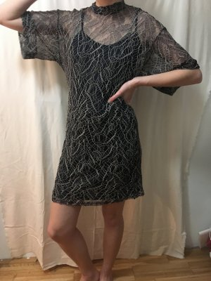 selected femme layered spitzen-kleid