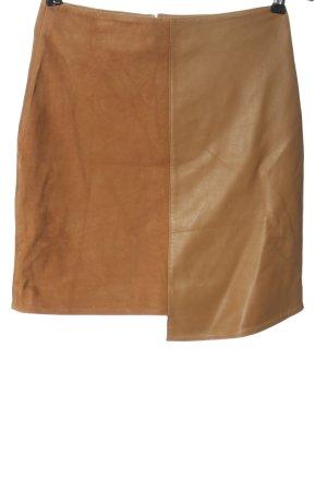 Selected Femme Falda de cuero marrón look casual