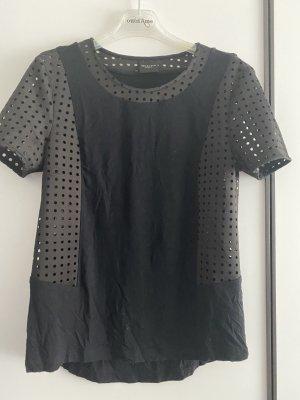 Selected Femme Lochshirt schwarz Gr.M