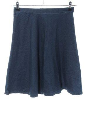 Selected Femme Midirock blau Casual-Look