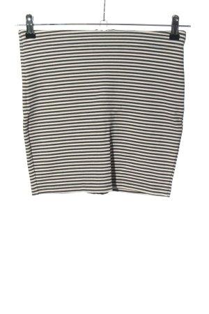 Selected Femme Minirock schwarz-weiß Streifenmuster Casual-Look