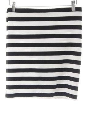 Selected Femme Minirock weiß-schwarz Streifenmuster