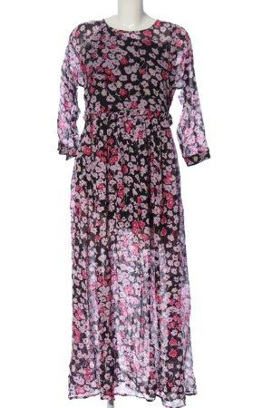 Selected Femme Petticoatkleid pink-schwarz Allover-Druck Casual-Look
