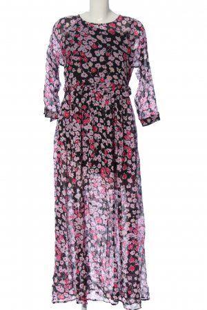 Selected Femme Abito a sottoveste rosa-nero stampa integrale stile casual