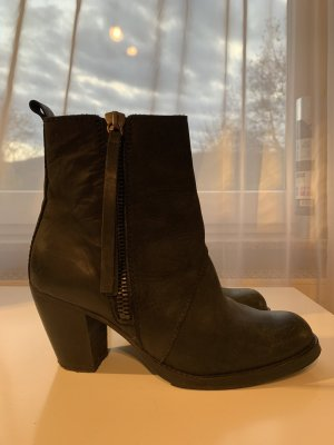 Selected Femme Booties black leather