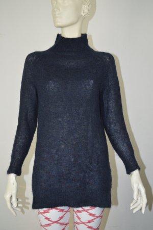 Selected Femme Pullover-Kleid Gr. S dunkelblau Mohair/Wolle/Tierhaar-Mischung NP: 100€