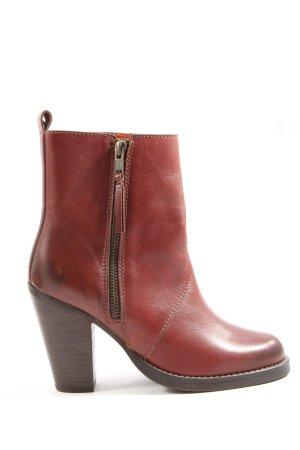 Selected Femme Reißverschluss-Stiefeletten rot Casual-Look
