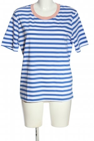 Selected Femme Koszulka w paski niebieski-biały Na całej powierzchni