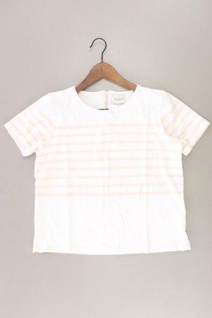 Selected Femme Ringelshirt Größe M gestreift Kurzarm weiß aus Viskose