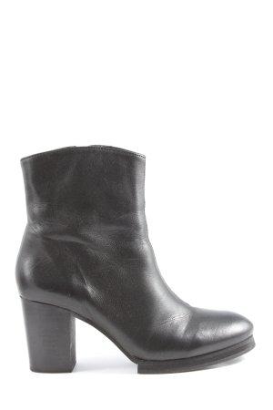 Selected Femme Reißverschluss-Stiefeletten schwarz Casual-Look