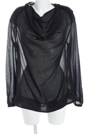 Selected Femme Schlupf-Bluse schwarz schlichter Stil