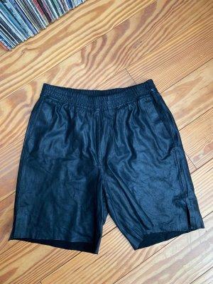 Selected Femme Shorts aus Leder Ledershorts schwarz