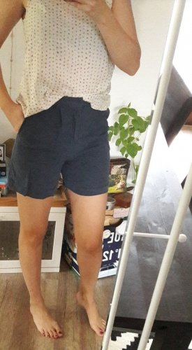 Selected Femme Shorts Highwaist Blau Tencel
