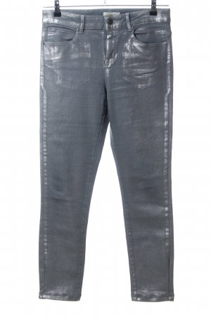 Selected Femme Slim Jeans hellgrau-silberfarben Casual-Look