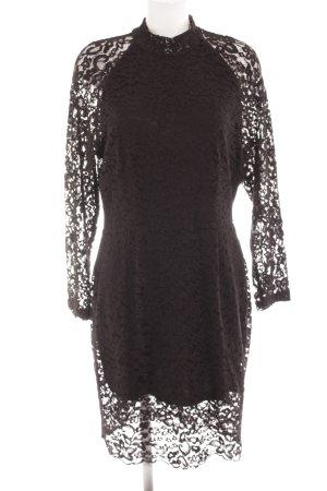Selected Femme Spitzenkleid schwarz Elegant