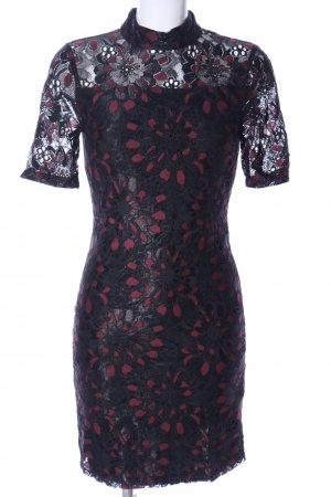 Selected Femme Spitzenkleid schwarz-rot Blumenmuster Elegant