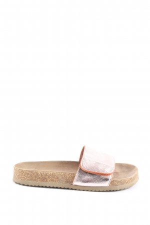 Selected Femme Beach Sandals brown-silver-colored casual look