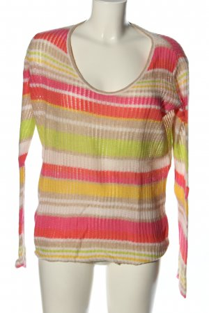 Selected Femme Strick Cardigan Streifenmuster Casual-Look