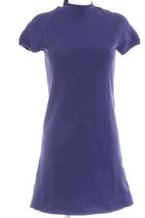 Selected Femme Strickkleid blau Webmuster Casual-Look
