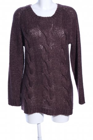 Selected Femme Strickpullover braun Zopfmuster Casual-Look