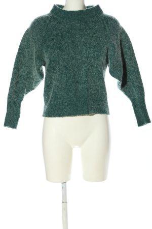 Selected Femme Strickpullover khaki-weiß meliert Casual-Look