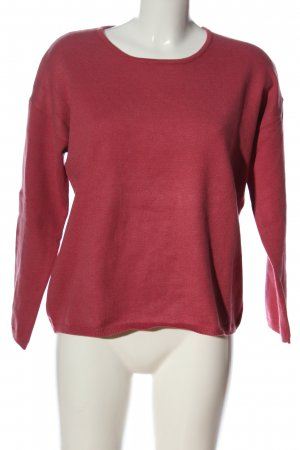 Selected Femme Strickpullover rot Zopfmuster Casual-Look