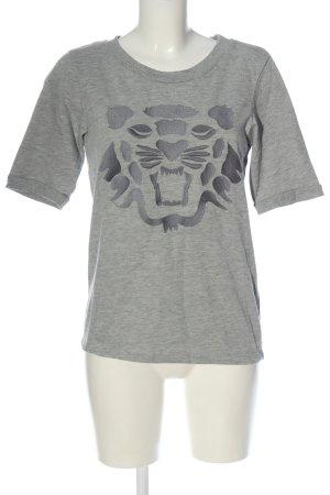 Selected Femme T-Shirt hellgrau meliert Casual-Look