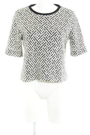 Selected Femme T-Shirt schwarz-creme Elegant