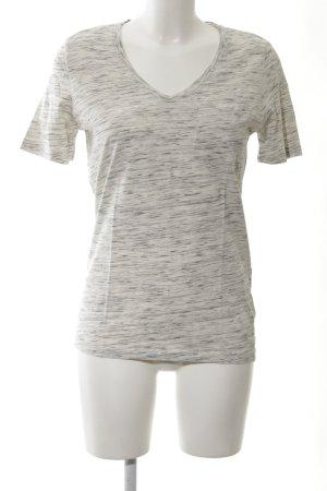 Selected Femme T-Shirt weiß-hellgrau meliert schlichter Stil