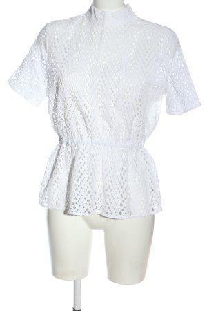 Selected Femme Transparenz-Bluse weiß Elegant