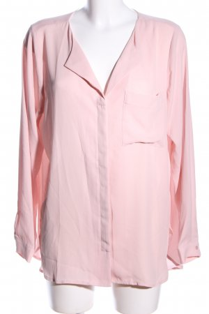 Selected Femme Transparenz-Bluse pink Business-Look