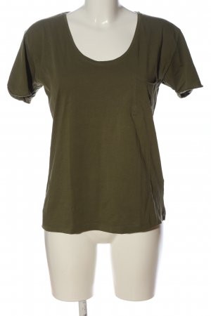 Selected Femme U-Boot-Shirt khaki Zopfmuster Casual-Look