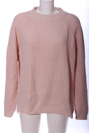 Selected Femme Cable Sweater pink casual look