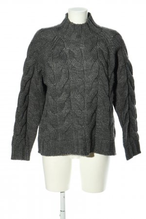 Selected Femme Cable Sweater light grey cable stitch casual look