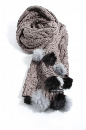 Selected Homme Crochet Scarf brown cable stitch casual look